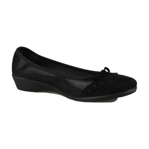 Shoes Women Flat shoes Vulladi SERRAJE LETINA BLACK