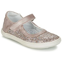 Shoes Girl Flat shoes GBB PLACIDA Pink / Gold