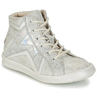 Shoes Girl Hi top trainers GBB PRUNELLA Grey / Silver