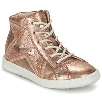 Shoes Girl Hi top trainers GBB PRUNELLA Pink / Gold