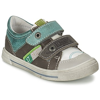 Shoes Boy Low top trainers GBB PHIL Grey / Green