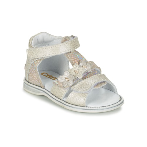 Shoes Girl Sandals GBB PING Grey / Silver