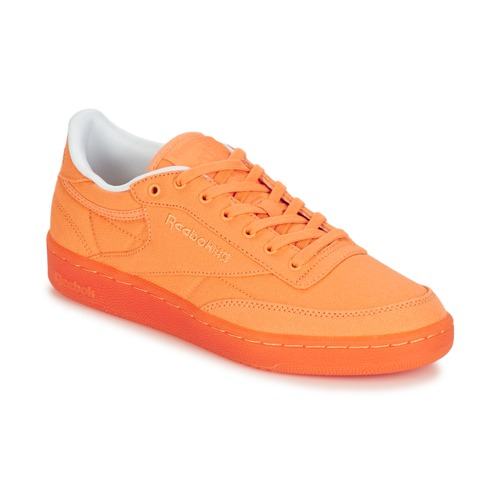 24692c6b11f Reebok Classic CLUB C 85 CANVAS Orange - Free delivery with Spartoo ...