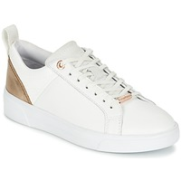 Shoes Women Low top trainers Ted Baker KULEI White / Pink / GOLD / Leather