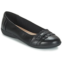 Shoes Women Flat shoes Clarks FEYA ISLAND  BLACK / Leather