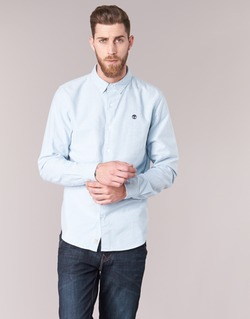 Clothing Men long-sleeved shirts Timberland LS RATTLE RIVER OXFORD SHIRT SLIM Blue