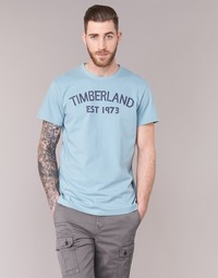 Clothing Men short-sleeved t-shirts Timberland SS KENNEBEC RIVER TBL 1973 TEE Blue / Clear
