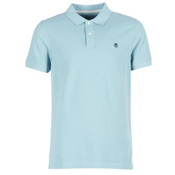 Clothing Men short-sleeved polo shirts Timberland SS MILLERS RIVER PIQUE REG POLO Blue / Clear