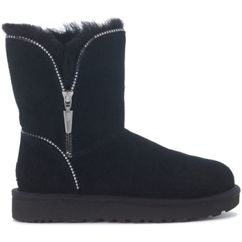 Shoes Women Mid boots UGG Ugg Florence black suede ankle boots with zip Black