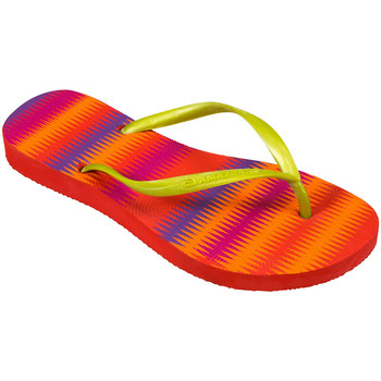Shoes Women Flip flops Amazonas Flip-Flops Woman  Enjoy Coloracao Missioni Red, Orange and Gold RED