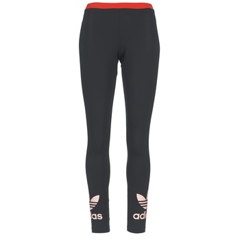 Clothing Women leggings adidas Originals TREFOIL LEGGING Black / Pink