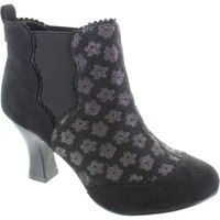 Shoes Women Ankle boots Ruby Shoo sammy women's pull on black Shimmering brocade high heel boots Black