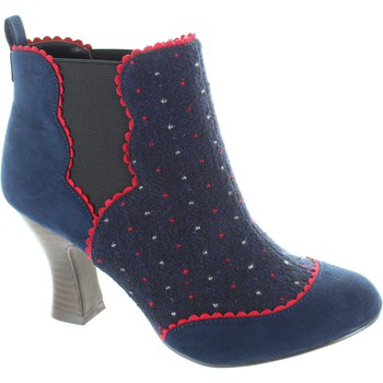 Shoes Women Shoe boots Ruby Shoo sammy women's pull on navy/red Shimmering brocade high heel boo Navy/Red