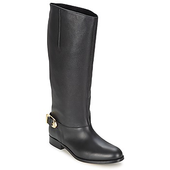 Shoes Women High boots Moschino Cheap & CHIC BUCKLE Black