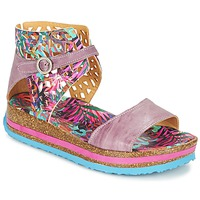 Shoes Women Sandals Think REMIL Pink / Multicoloured