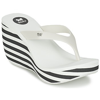 Shoes Women Flip flops Zaxy LIPSTICK V White / Black