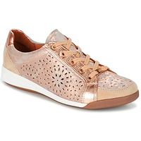 Shoes Women Low top trainers Ara ZIMELLE Pink / Gold