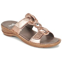 Shoes Women Mules Ara AGLIMELLE Gold / Pink