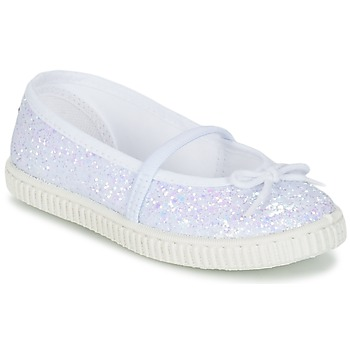 Shoes Girl Flat shoes Chipie SALSABA GLITTER / White