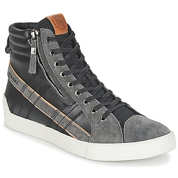 Shoes Men Hi top trainers Diesel D-STRING PLUS Black / Grey