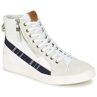 Shoes Men Hi top trainers Diesel D-STRING PLUS White / Blue