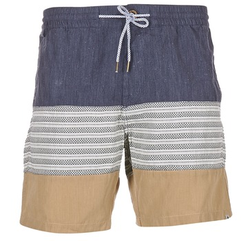 Clothing Men Shorts / Bermudas Volcom THREEZY JAMMER MARINE / BEIGE
