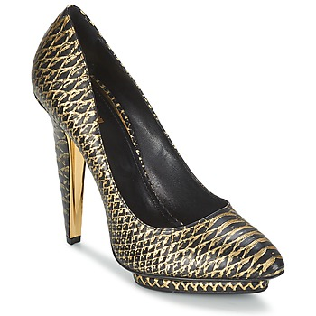 Shoes Women Heels Roberto Cavalli YDS622-UC168-D0007 Black / Gold