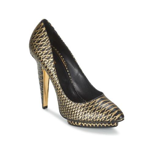 Shoes Women Heels Roberto Cavalli YDS622-UC168-D0007 Black / Gold
