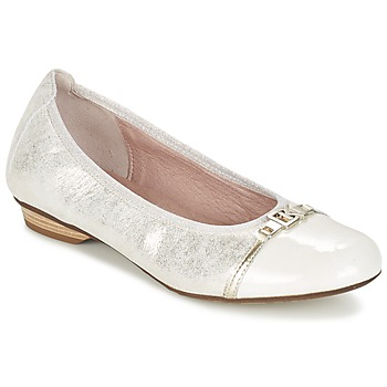 Shoes Women Flat shoes Dorking TELMA Silver / BEIGE
