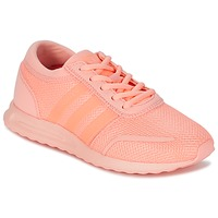 Shoes Girl Low top trainers adidas Originals LOS ANGELES J Pink / Coral