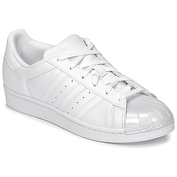 Shoes Women Low top trainers adidas Originals SUPERSTAR GLOSSY TO White