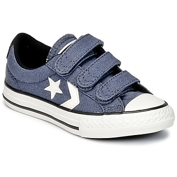 Converse  STAR PLAYER 3V VINTAGE CANVAS OX  boys's Children's Shoes (Trainers) in blue