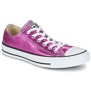 Shoes Women Low top trainers Converse CHUCK TAYLOR ALL STAR SEASONAL METALLICS OX Pink / Black / White