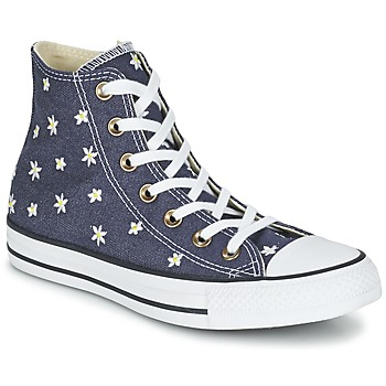Shoes Women Hi top trainers Converse CHUCK TAYLOR ALL STAR DENIM FLORAL HI MARINE / Yellow / White