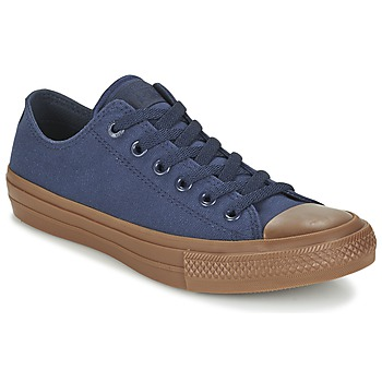 Shoes Men Low top trainers Converse CHUCK TAYLOR ALL STAR II TENCEL CANVAS OX Obsidian / Obsidian / Gum