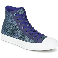 Shoes Men Hi top trainers Converse CHUCK TAYLOR ALL STAR II OPEN KNIT HI Blue / Grey / White