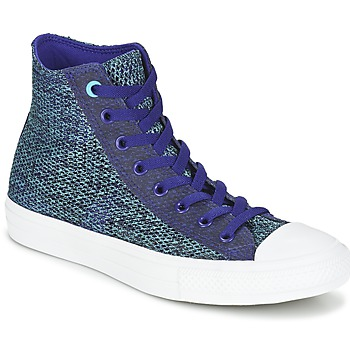 Shoes Men Hi top trainers Converse CHUCK TAYLOR ALL STAR II OPEN KNIT HI Blue