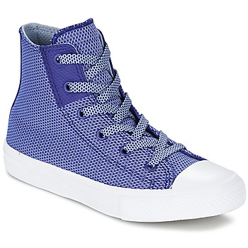 Shoes Children Hi top trainers Converse CHUCK TAYLOR ALL STAR II BASKETWEAVE FUSE TD HI INDIGO / Blue / White