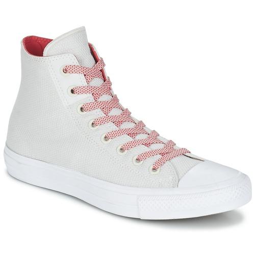 125ee289b04c Shoes Hi top trainers Converse CHUCK TAYLOR ALL STAR II BASKETWEAVE FUSE HI  Ecru   White