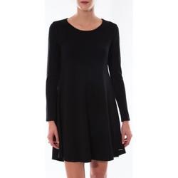 Clothing Women Short Dresses Coquelicot Robe  Col Rond Noir 16202 Black
