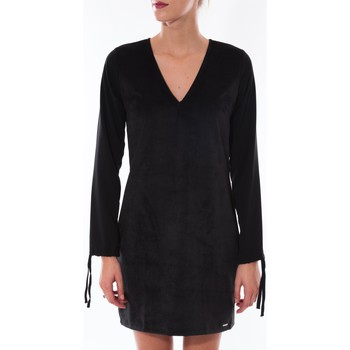Clothing Women Short Dresses Coquelicot Robe  Col V Noir 16211 Black