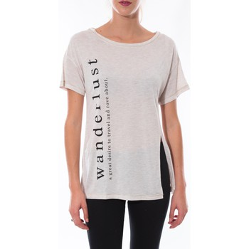 Clothing Women short-sleeved t-shirts Coquelicot T-shirt  Beige 16406 Beige