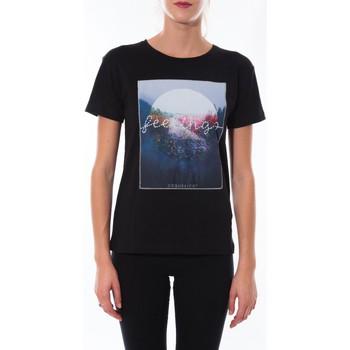 Clothing Women short-sleeved t-shirts Coquelicot T-shirt  Noir 16423 Black
