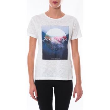 Clothing Women short-sleeved t-shirts Coquelicot T-shirt  Blanc 16423 White