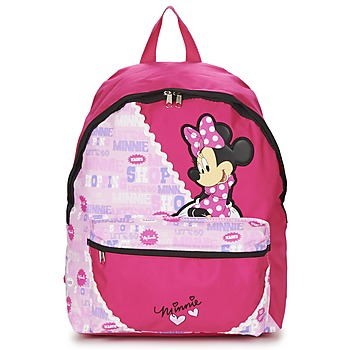Bags Girl Rucksacks Disney MINNIE SCRATCH DOTS SAC A DOS BORNE Red