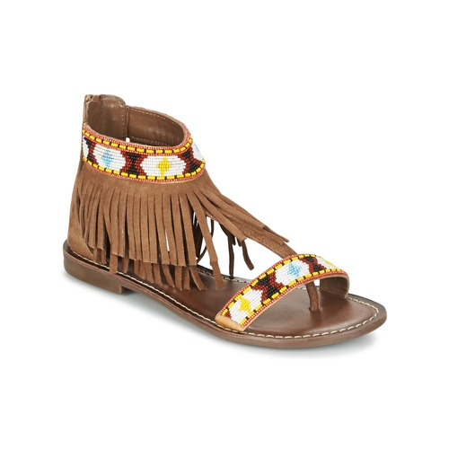 Shoes Women Sandals Metamorf'Ose ZACCIN Brown