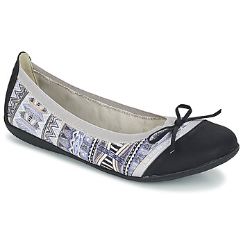 Shoes Women Flat shoes LPB Woman CAPRICE Grey / Black