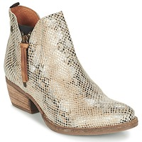 Shoes Women Mid boots Coqueterra LIZZY Beige / Serpent