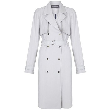 Clothing Women Trench coats Anastasia -Womens Soft Grey Unlined Trench Coat Grey