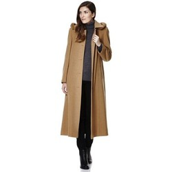 Clothing Women Duffel coats De La Creme Anastasia-Green Womens Winter Cashmere Belted Coat Green